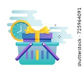 delivery services  cargo...   Shutterstock .eps vector #725964091