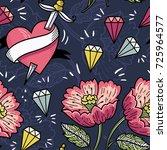 vintage style vector seamless... | Shutterstock .eps vector #725964577