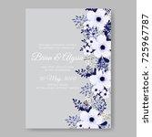 poinsettia hibiscus wedding... | Shutterstock .eps vector #725967787