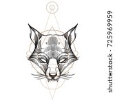 muzzle fox illustration for... | Shutterstock .eps vector #725969959