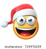 christmas emoji isolated on... | Shutterstock . vector #725970259