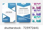 design of a modern flyer in... | Shutterstock .eps vector #725972641