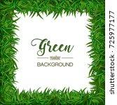 green grass natural frame.... | Shutterstock .eps vector #725977177