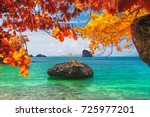 beautiful destinations beach in ... | Shutterstock . vector #725977201