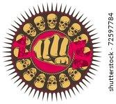 illustrated hard rock... | Shutterstock .eps vector #72597784
