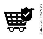 check shopping cart icon | Shutterstock .eps vector #725979559