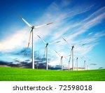 wind turbine farm | Shutterstock . vector #72598018