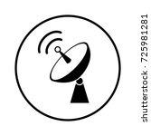 satellite dish icon | Shutterstock .eps vector #725981281