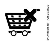 delete shopping cart icon | Shutterstock .eps vector #725982529