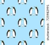 vector seamless pattern of bird ... | Shutterstock .eps vector #725982991