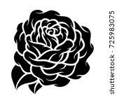 flower rose  black and white.... | Shutterstock .eps vector #725983075