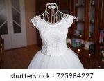 elegant wedding dress the bride | Shutterstock . vector #725984227