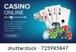 casino poker design vector.... | Shutterstock .eps vector #725985847