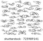 set of decorative elements.... | Shutterstock .eps vector #725989141