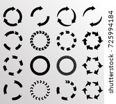 set of vector circular arrows.... | Shutterstock .eps vector #725994184