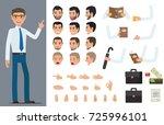 businessman character generator ... | Shutterstock . vector #725996101