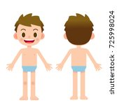 vector cute kid  girl character ... | Shutterstock .eps vector #725998024
