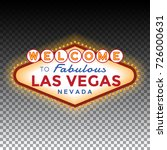 vector las vegas sign on... | Shutterstock .eps vector #726000631