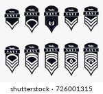 military ranks stripes and...   Shutterstock .eps vector #726001315