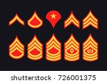 military ranks stripes and...   Shutterstock .eps vector #726001375