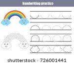 handwriting practice sheet.... | Shutterstock .eps vector #726001441