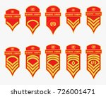 military ranks stripes and... | Shutterstock .eps vector #726001471