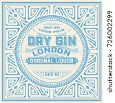 vintage label with gin design | Shutterstock .eps vector #726002299