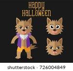 cute halloween character ... | Shutterstock .eps vector #726004849