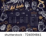 hot drinks winter menu. design... | Shutterstock .eps vector #726004861