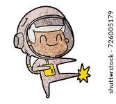 happy cartoon astronaut | Shutterstock .eps vector #726005179