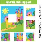 puzzle for toddlers. matching... | Shutterstock .eps vector #726005881