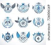 set of vector vintage emblems... | Shutterstock .eps vector #726006169