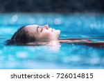 young asian woman relaxing in... | Shutterstock . vector #726014815