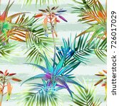 tropical seamless pattern.... | Shutterstock . vector #726017029