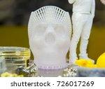 human skull printed on a 3d... | Shutterstock . vector #726017269