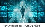 digital transformation and... | Shutterstock . vector #726017695