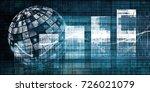 digital multimedia with a media ...   Shutterstock . vector #726021079