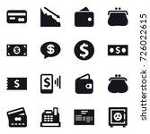 16 vector icon set   card ...   Shutterstock .eps vector #726022615