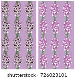 seamless pattern with gladiolus ... | Shutterstock .eps vector #726023101