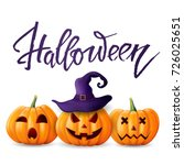 halloween background. greeting... | Shutterstock .eps vector #726025651