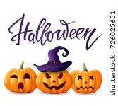 halloween background. greeting... | Shutterstock .eps vector #726025651