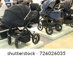 sale of prams in the store   Shutterstock . vector #726026035