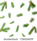 christmas pattern of green... | Shutterstock . vector #726026059