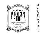 vintage frame antique barber... | Shutterstock .eps vector #726026134