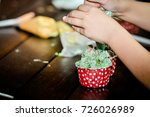 on the kitchen table after... | Shutterstock . vector #726026989