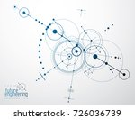 mechanical scheme  vector... | Shutterstock .eps vector #726036739