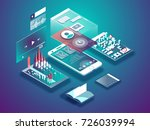 isometric mobile phone. smart... | Shutterstock .eps vector #726039994