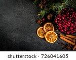 ingredients for christmas ... | Shutterstock . vector #726041605