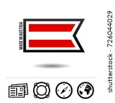 made in austria flag with... | Shutterstock .eps vector #726044029