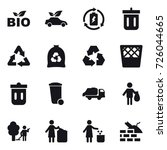 16 Vector Icon Set   Bio  Eco...